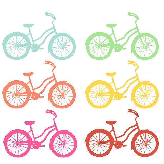 Рисунки на велосипедах трафарет