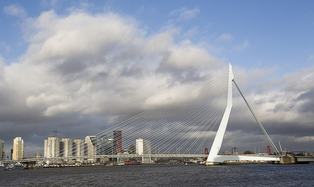 Erasmus bridge in Rotterdam - Picture by Martin de Lusenet on Flickr
