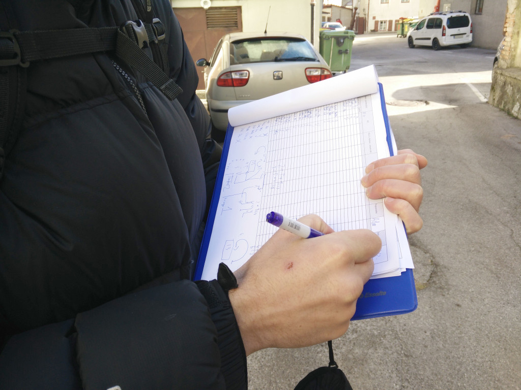Photo 2_Parking beat analysis on site – data gathering