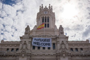 refugees welcome madrid